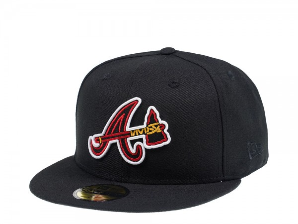 New Era Atlanta Braves Popped Outline Edition 59Fifty Fitted Cap