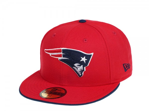 New Era New England Patriots Red Edition 59Fifty Fitted Cap