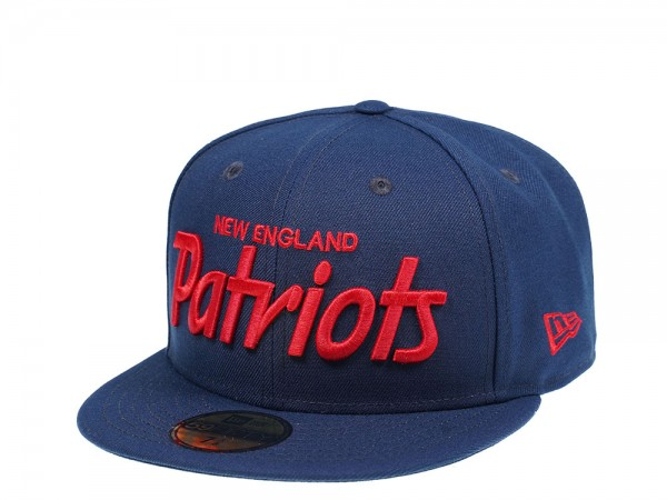 New Era New England Patriots Red Script Edition 59Fifty Fitted Cap