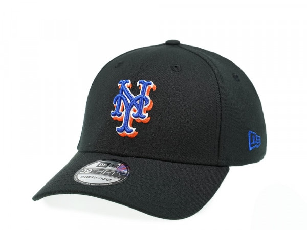 New Era New York Mets All about Black Edition 39Thirty Stretch Cap
