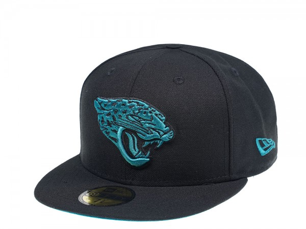 New Era Jacksonville Jaguars Teal Logo Edition 59Fifty Fitted Cap