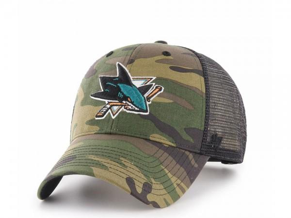 47Brand San Jose Sharks MVP Camo Trucker Snapback Cap