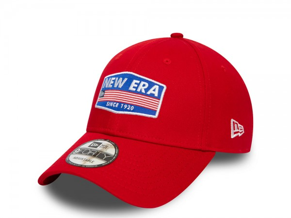 New Era NE USA Patch Red 9Forty Strapback Cap