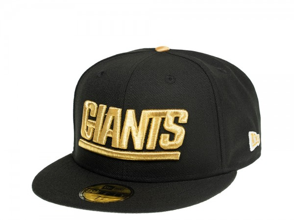 New Era New York Giants Black and Gold Edition 59Fifty Fitted Cap