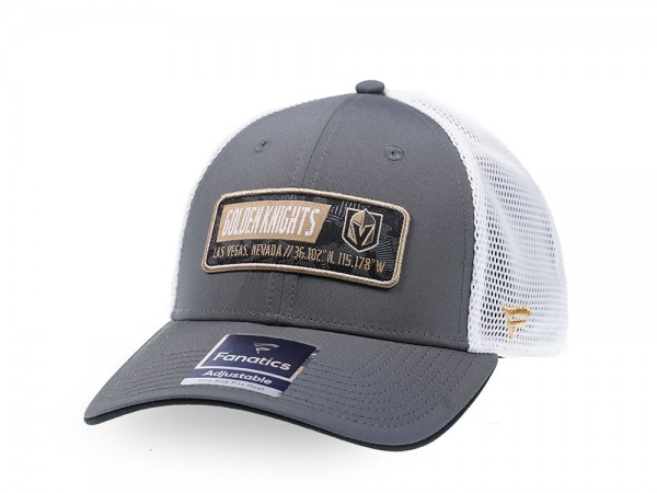 Fanatics Las Vegas Golden Knights Gray Iconic Trucker Snapback Cap