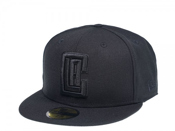 New Era Los Angeles Clippers Black on Black Edition 59Fifty Fitted Cap