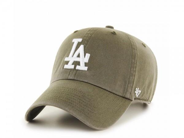 47Brand Los Angeles Dodgers Clean Up Washed Olive Strapback Cap