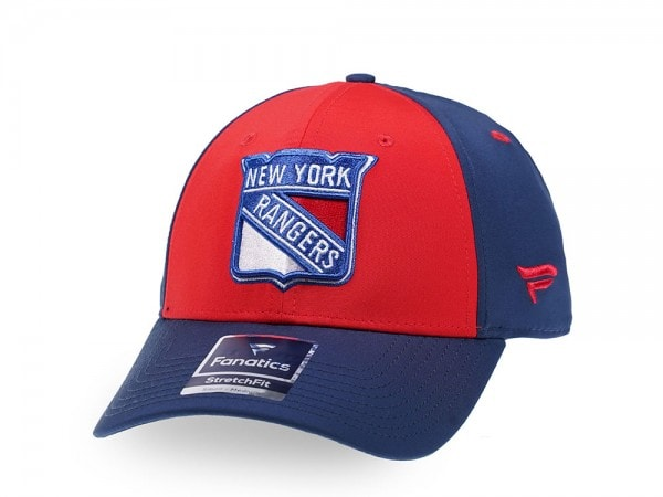 Fanatics New York Rangers Red Iconic Stretch Fit Cap