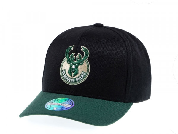 Mitchell & Ness Milwaukee Bucks Two Tone 110 Flex Snapback Cap