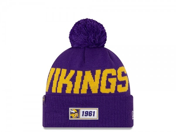 New Era Minnesota Vikings Sideline 2019  Road Mütze