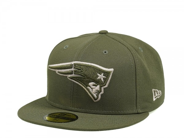 New Era New England Patriots Army Green Edition 59Fifty Fitted Cap