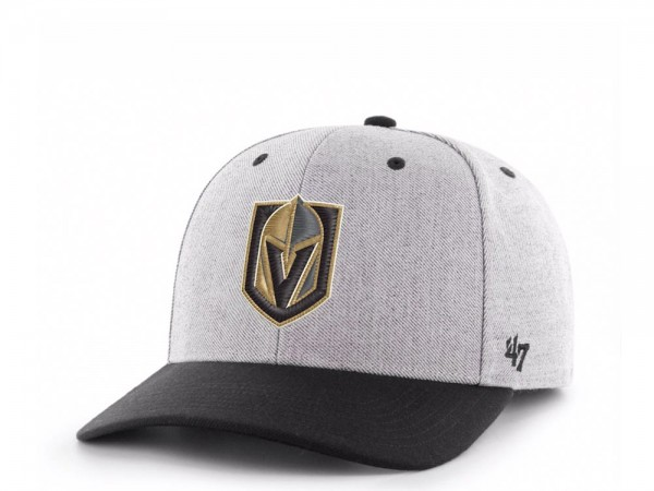 47Brand Vegas Golden Knights Storm Cloud MVP DP Snapback Cap