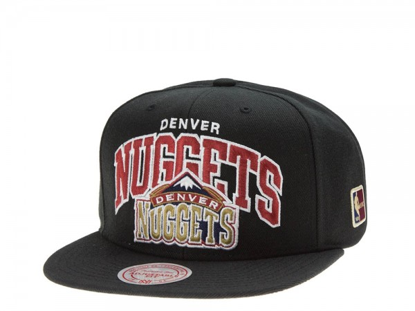 Mitchell & Ness Denver Nuggets Team Arch black Snapback Cap