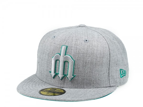 New Era Seattle Mariners Heather Gray Edition 59Fifty Fitted Cap