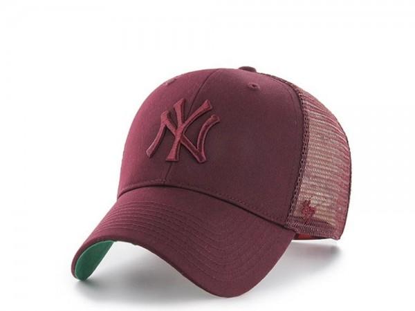 47Brand New York Yankees Tonal Maroon MVP Trucker Snapback Cap