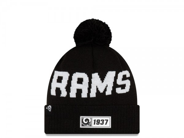 New Era Los Angeles Rams Sideline 2019 Road Black Mütze