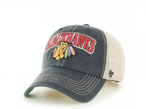 47Brand Chicago Blackhawks Tuscaloosa Clean Up Trucker Snapback Cap