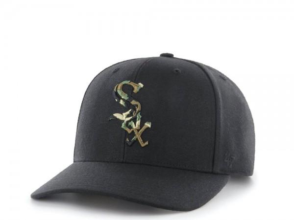47Brand Chicago White Sox Camo Logo MVP DP Strapback Cap