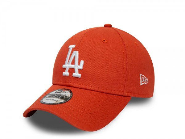 New Era Los Angeles Dodgers Orange Essential 9Forty Strapback Cap