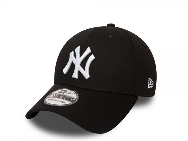 New Era New York Yankees League Basic White on Black Stretch Fit 39Thirty Cap