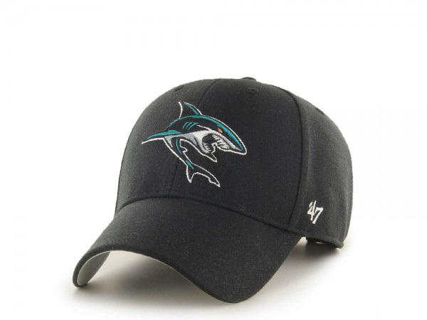 47brand San Jose Sharks Secondary Logo MVP Strapback Cap