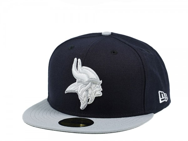 New Era Minnesota Vikings Navy and Gray Edition 59Fifty Fitted Cap