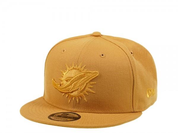 New Era Miami Dolphins Panama Tan Edition 9Fifty Snapback Cap