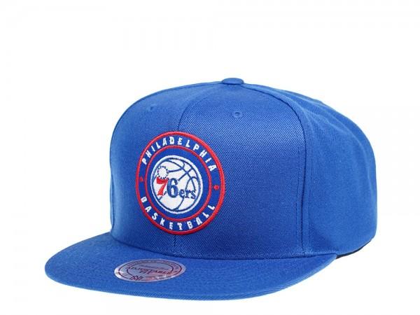 Mitchell & Ness Philadelphia 76ers Circle Patch Snapback Cap