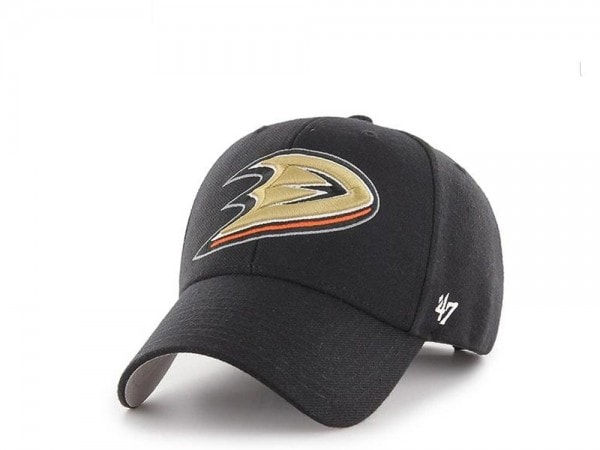47brand Anaheim Ducks Current Logo MVP Black Strapback Cap