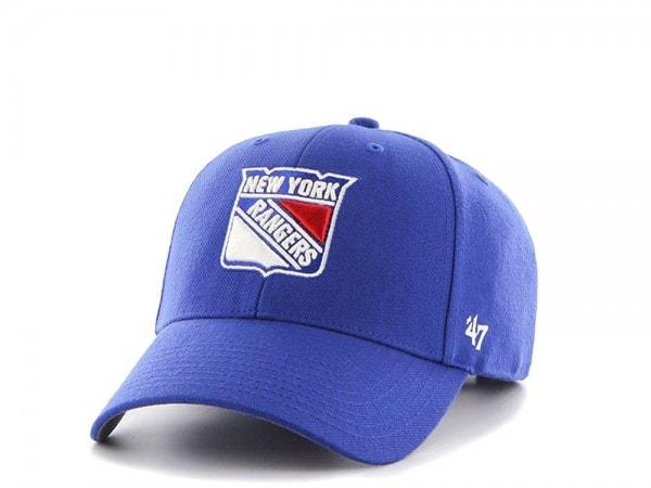 47brand New York Rangers Mvp Curved Snapback Cap