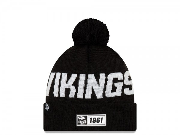 New Era Minnesota Vikings Sideline 2019 Road Black Mütze