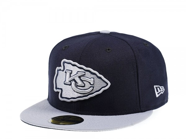 New Era Kansas City Chiefs Navy Gray Edition 59Fifty Fitted Cap