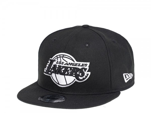 New Era Los Angeles Lakers Black and White Edition 9Fifty Snapback Cap