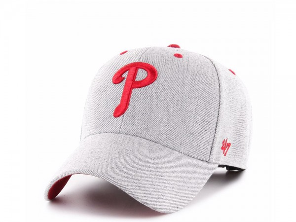 47brand Philadelphia Phillies Charcoal Storm Cloud MVP Strapback Cap