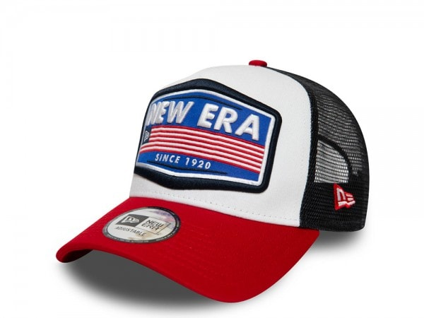 New Era NE Star Patch White A Frame Trucker Cap