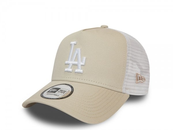 New Era Los Angeles Dodgers Creme A Frame Trucker Cap