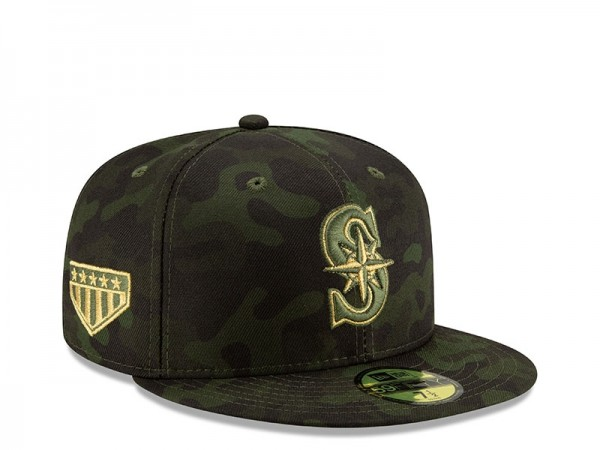 New Era Seattle Mariners Armed Forces Day On Field Fitted 59Fifty Cap