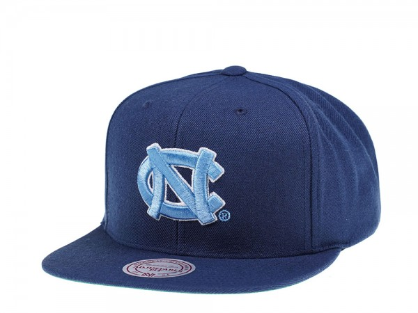 Mitchell & Ness North Carolina Tar Heels Wool Solid Snapback Cap