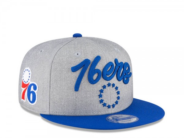 New Era Philadelphia 76ers NBA Draft 20 9Fifty Snapback Cap