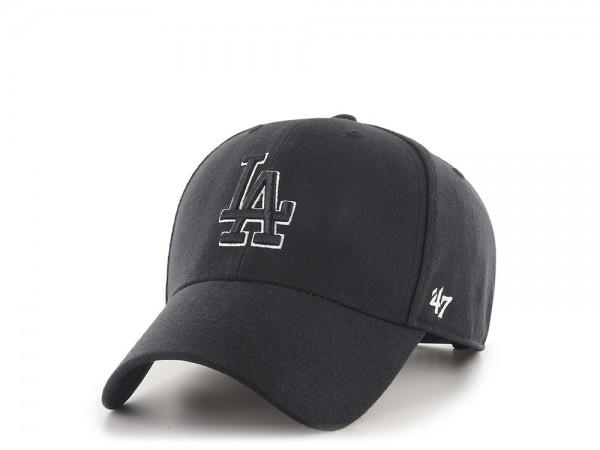 47Brand Los Angeles Dodgers Black and White MVP Snapback Cap