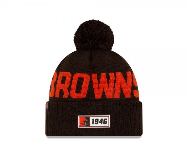 New Era Cleveland Browns Sideline 2019 Road Mütze