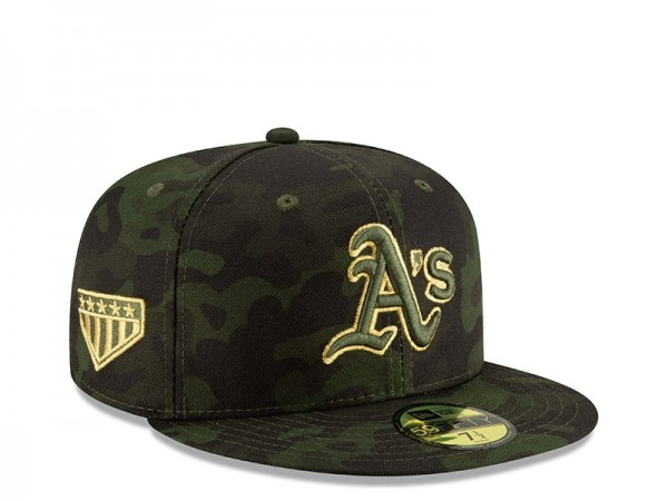 New Era Oakland Athletics Armed Forces Day On Field Fitted 59Fifty Cap