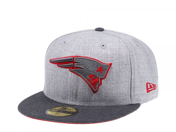 New Era New England Patriots Heather Prime Edition 59Fifty Fitted Cap