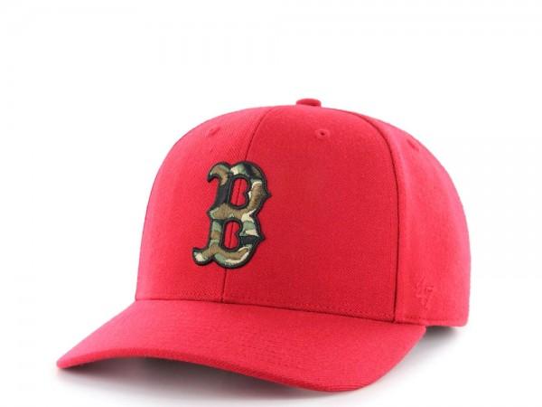 47Brand Boston Red Sox Camo Logo MVP DP Strapback Cap