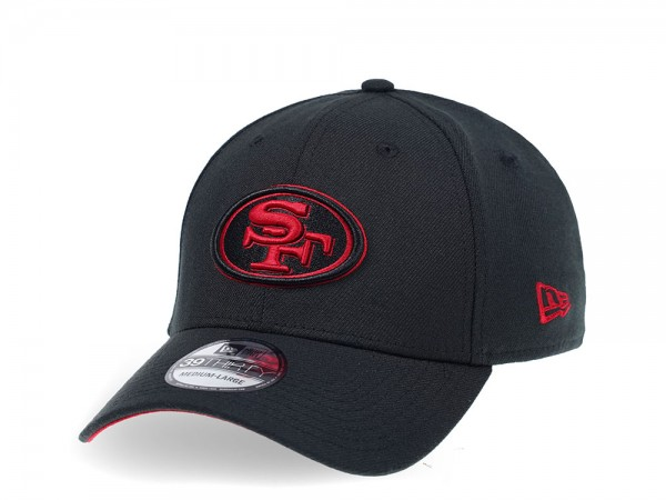 New Era San Francisco 49ers Curved Black Edition 39Thirty Stretch Cap