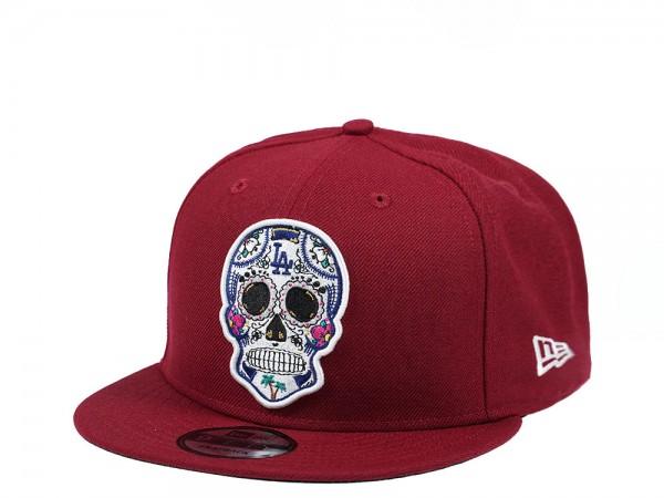 New Era Los Angeles Dodgers Skull Edition Red 9Fifty Snapback Cap