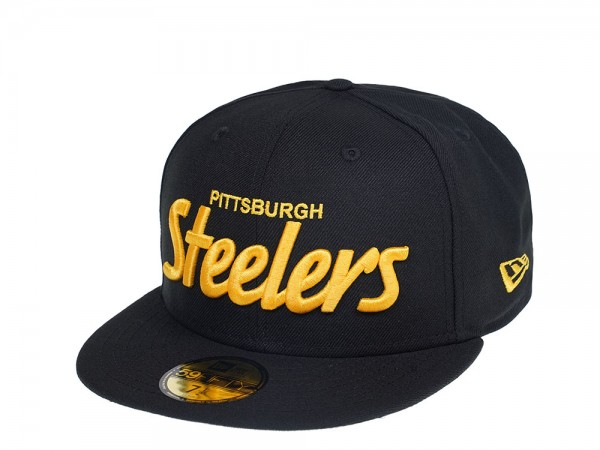 New Era Pittsburgh Steelers Script Edition 59Fifty Fitted Cap