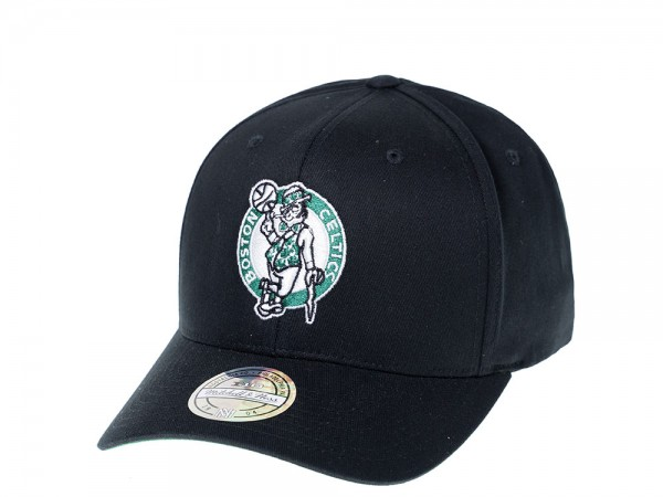 Mitchell & Ness Boston Celtics Simple Black 110 Flexfit Snapback Cap