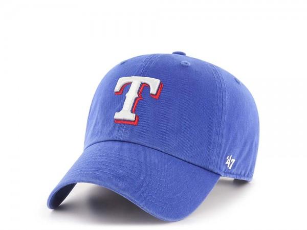 47Brand Texas Rangers Clean Up Strapback Cap