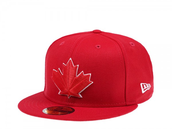 New Era Toronto Blue Jays Canada Red Edition 59Fifty Fitted Cap
